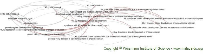 Diseases related to 46, Xy Disorders of Sexual Development