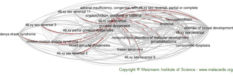 Diseases related to 46,xy Sex Reversal