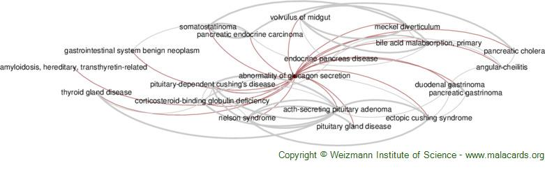 Diseases related to Abnormality of Glucagon Secretion