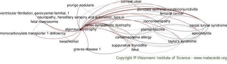 Diseases related to Algoneurodystrophy