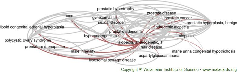 Diseases related to Alopecia, Androgenetic, 1