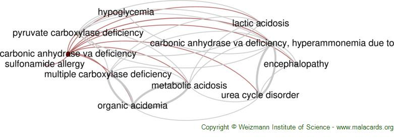 Diseases related to Carbonic Anhydrase Va Deficiency