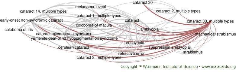 Diseases related to Cataract 30, Multiple Types