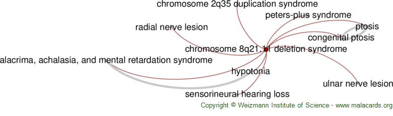 Diseases related to Chromosome 8q21.11 Deletion Syndrome
