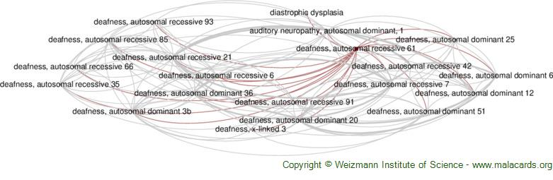 Diseases related to Deafness, Autosomal Recessive 61