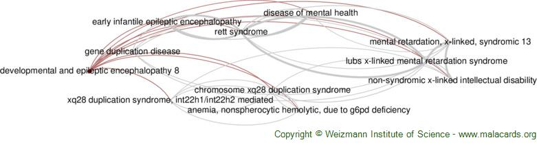 Diseases related to Developmental and Epileptic Encephalopathy 8