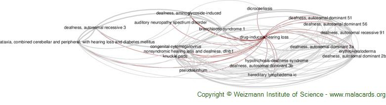 Diseases related to Drug-Induced Hearing Loss