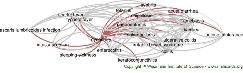 Diseases related to Dysentery