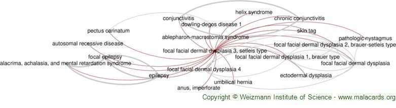 Diseases related to Focal Facial Dermal Dysplasia 3, Setleis Type
