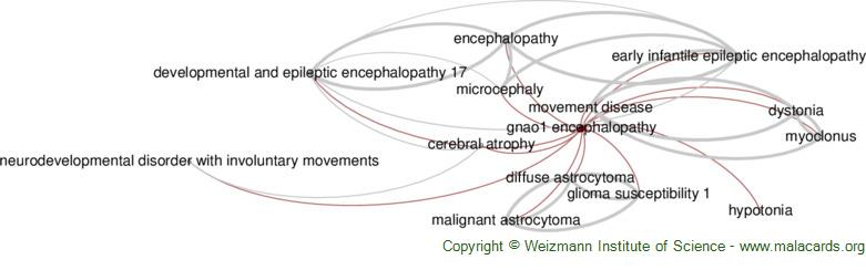 Diseases related to Gnao1 Encephalopathy
