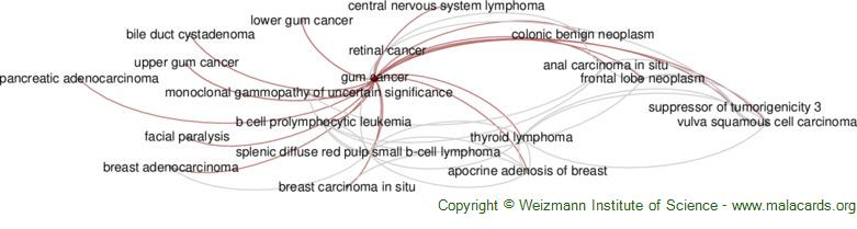 Diseases related to Gum Cancer
