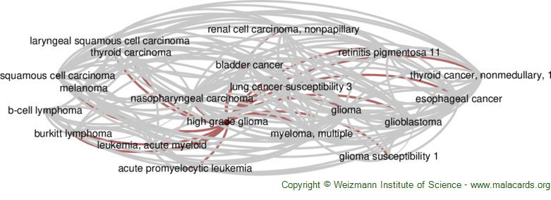 Diseases related to High Grade Glioma