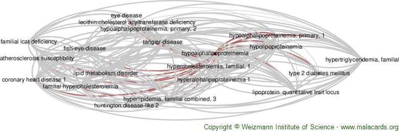 Diseases related to Hypoalphalipoproteinemia
