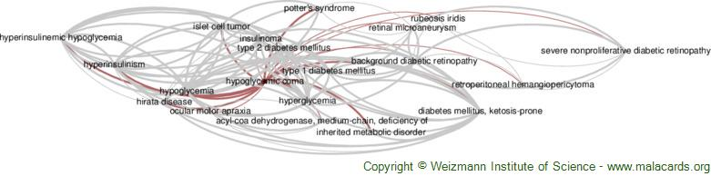 Diseases related to Hypoglycemic Coma