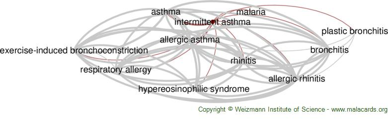 Diseases related to Intermittent Asthma