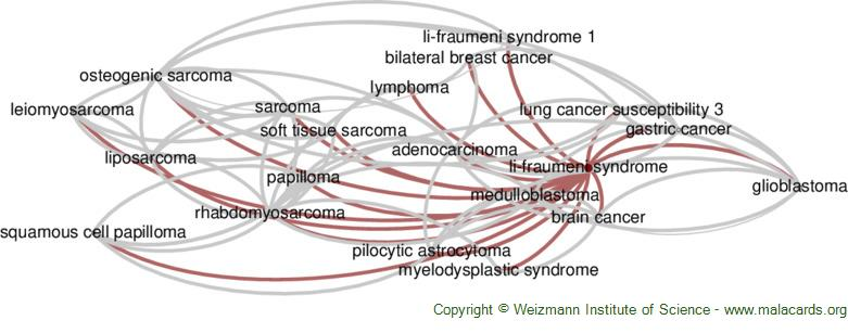 Diseases related to Li-Fraumeni Syndrome