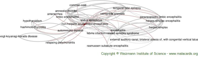 Diseases related to Non-Herpetic Acute Limbic Encephalitis
