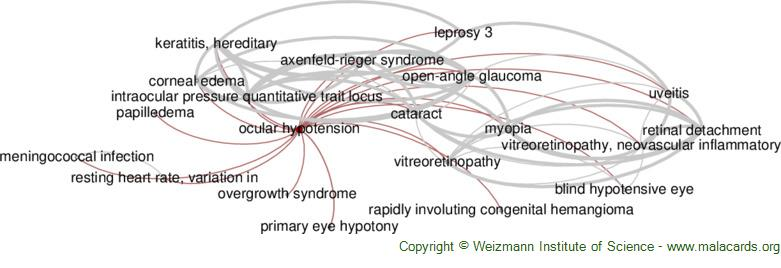 Diseases related to Ocular Hypotension