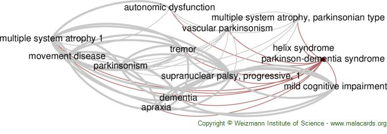 Diseases related to Parkinson-Dementia Syndrome