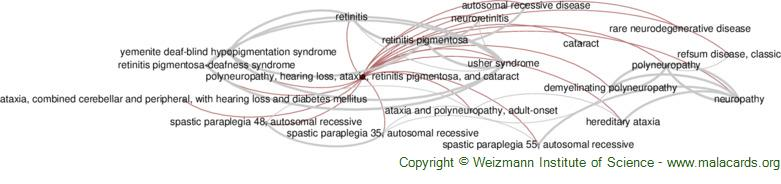 Diseases related to Polyneuropathy, Hearing Loss, Ataxia, Retinitis Pigmentosa, and Cataract