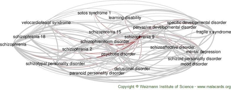 Diseases related to Schizophrenia 9