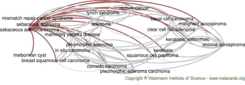 Diseases related to Sebaceous Adenocarcinoma