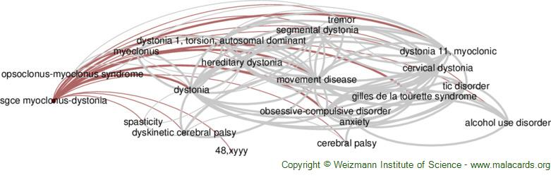 Diseases related to Sgce Myoclonus-Dystonia