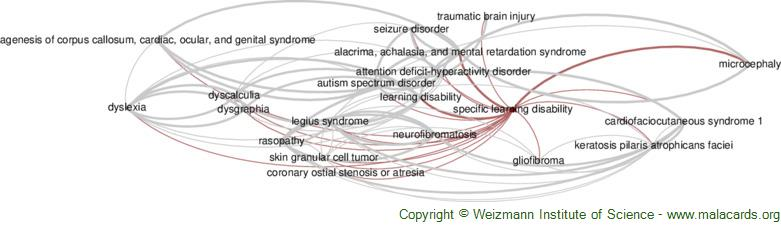 Diseases related to Specific Learning Disability