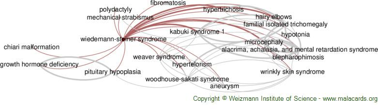 Diseases related to Wiedemann-Steiner Syndrome