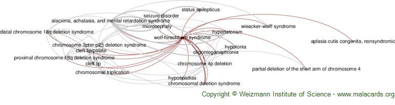 Diseases related to Wolf-Hirschhorn Syndrome