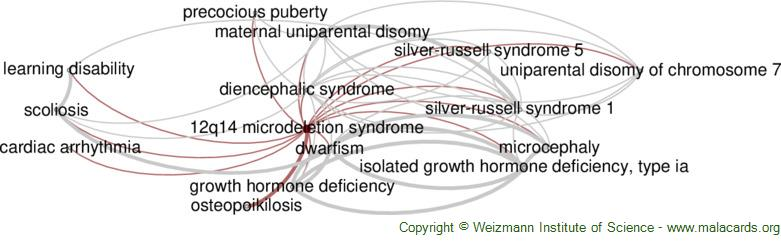 Diseases related to 12q14 Microdeletion Syndrome