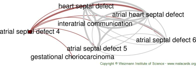 Diseases related to Atrial Septal Defect 4