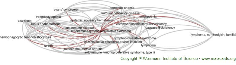 Diseases related to Autoimmune Lymphoproliferative Syndrome
