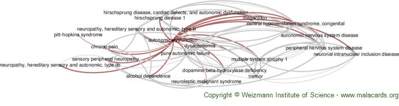 Diseases related to Autonomic Dysfunction