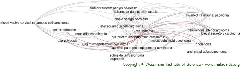Diseases related to Bile Duct Mucoepidermoid Carcinoma