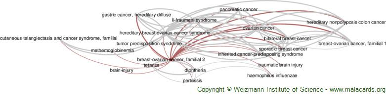 Breast-Ovarian Cancer, Familial 2 disease: Malacards - Research Articles,  Drugs, Genes, Clinical TrialsMalaCards