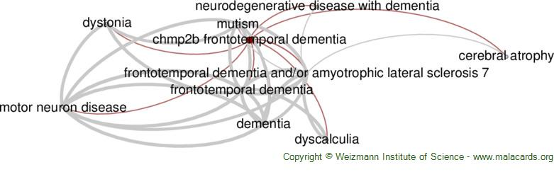 Diseases related to Chmp2b Frontotemporal Dementia