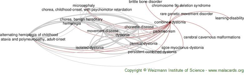 Diseases related to Combined Dystonia