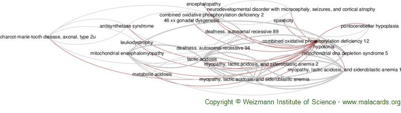 Diseases related to Combined Oxidative Phosphorylation Deficiency 12