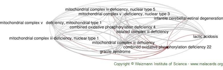 Diseases related to Combined Oxidative Phosphorylation Deficiency 22