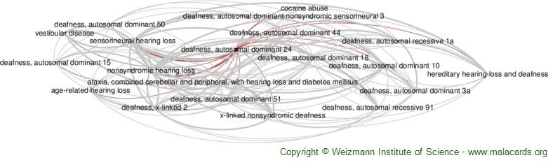 Diseases related to Deafness, Autosomal Dominant 24