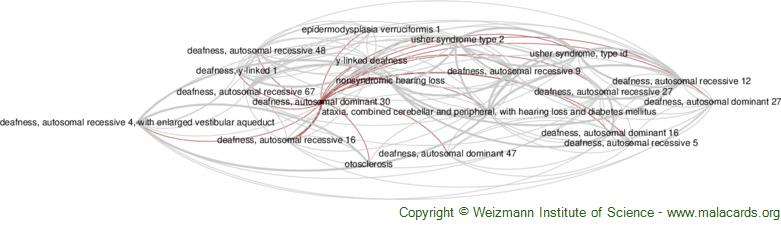 Diseases related to Deafness, Autosomal Dominant 30