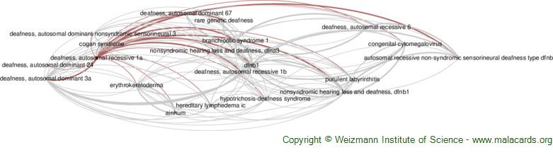 Diseases related to Deafness, Autosomal Recessive 1a
