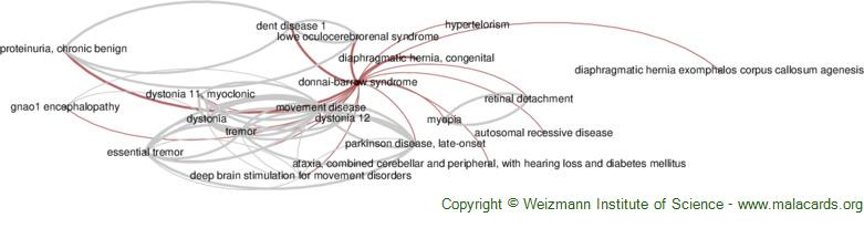 Diseases related to Donnai-Barrow Syndrome