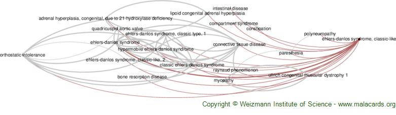 Diseases related to Ehlers-Danlos Syndrome, Classic-Like