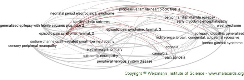 Diseases related to Episodic Pain Syndrome, Familial, 2