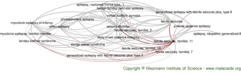 Diseases related to Febrile Seizures, Familial, 11