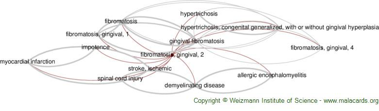 Diseases related to Fibromatosis, Gingival, 2
