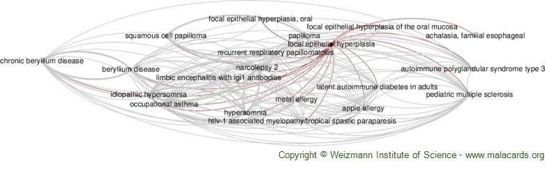 Diseases related to Focal Epithelial Hyperplasia
