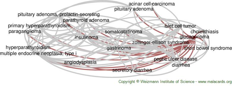 Diseases related to Glucagonoma